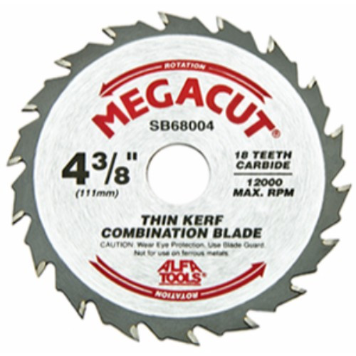 "Alfa Tools I 4-3/8""X18T COMBINED CARBIDE TIPPED SAW BLADE"
