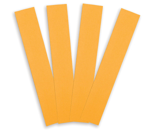 """Alfa Tools I 2-3/4"""" X 17-1/2"""" 120 GRIT NON PSA ALUMINUM OXIDE GOLD SHEET 50/PACK"""