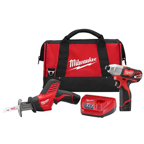 Milwaukee I M12™ COMBO IMPACT/HACKZ W/2 BAT