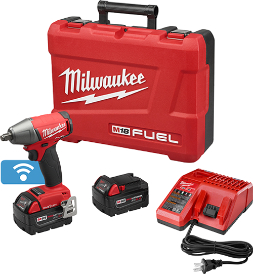 """Milwaukee I M18 FUEL™  1/2"""" COMPACT IMPACT WRENCH W/ FRICTION RING WITH ONE-KEY™ KIT"""