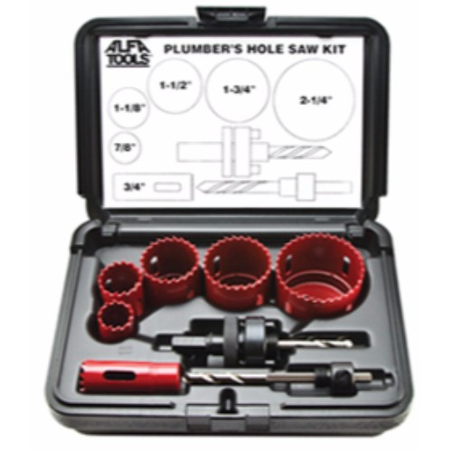 Alfa Tools I 8PC .BI-METAL PLUMBERS HOLE SAW KIT