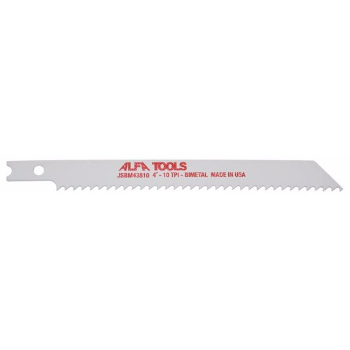 "Alfa Tools I BI-METAL 4"" 10TPI JIG SAW BLADE 5 PER TUBE"