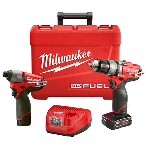Milwaukee I M12™ FUEL™ COMBO 1/2 HMR DRL/IMPACT W/2 BAT