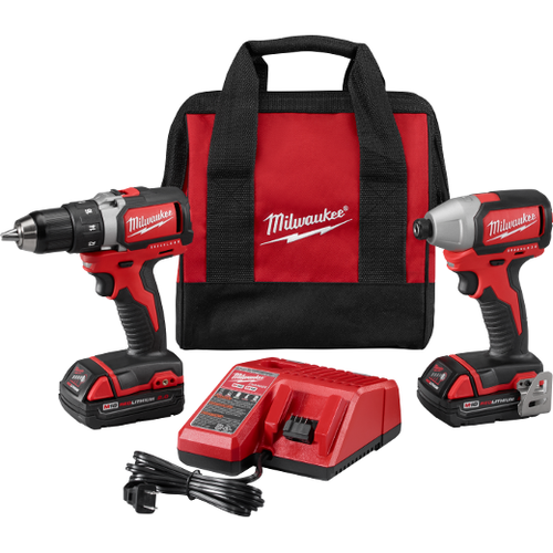 Milwaukee I M18™ CMPT BRUSHLESS DRILL IMPACT KIT - Product Discontinued Replaced with 2892-22CT