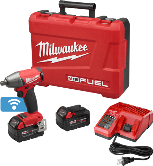 "Milwaukee I M18 FUEL™  1/2"" COMPACT IMPACT WRENCH W/ PIN DETENT WITH ONE-KEY™ KIT"