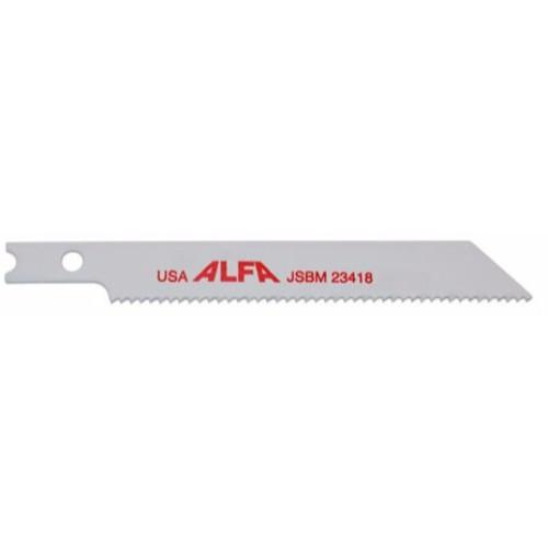 "Alfa Tools I BI-METAL 3"" 18 T-SHANK JIG SAW BLADE 5 PER TUBE"