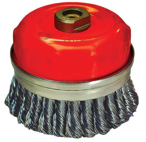 "Alfa Tools I 3 1/4"" STAINLESS STEEL KNOTTED CUP BRUSH"