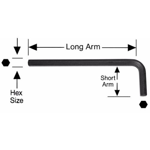 Alfa Tools I 3/8 LONG ARM TAMPERPROOF HEX-L KEY