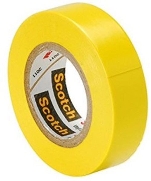 "3M Scotch¨ Vinyl Color Coding Electrical Tape I 35 - 1/2"" Wide, 20 feet, Yellow (1 Roll)"