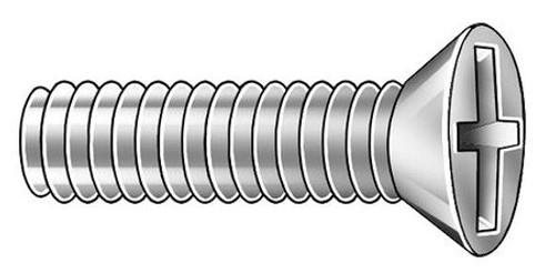 Stainless Flat Head Machine Screw I 2-56 X 1/2 18-8 PHIL FLT Machine