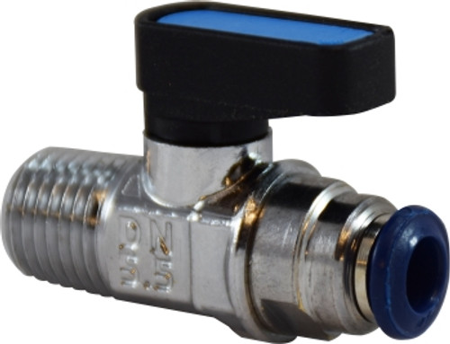 Ball Valve Male NPTF Push Fit Connections 3/8M NPTF PUSH-FIT BALL VALVE - 28405