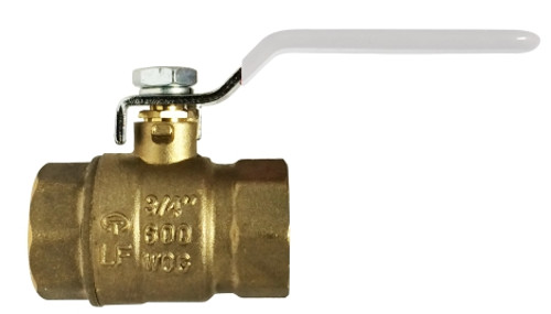 Lead Free Ball Valve-NSF Listed--IPS and SWT 3/4 FXF LEADFREE CSA FULL PORT BALL VALV - 941154LF