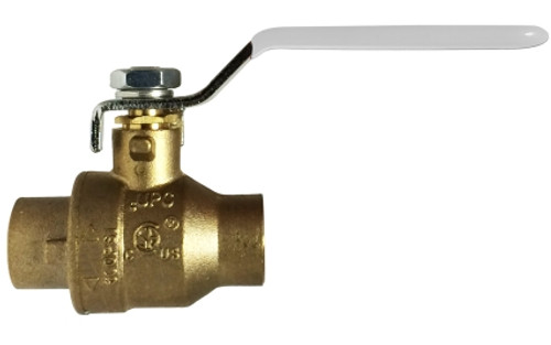 Lead Free China Ball Valve-NSF Listed--IPS and SWT 1 1/4 SWT X SWT LEADFREE CSA FULL PORT B - 941166LF