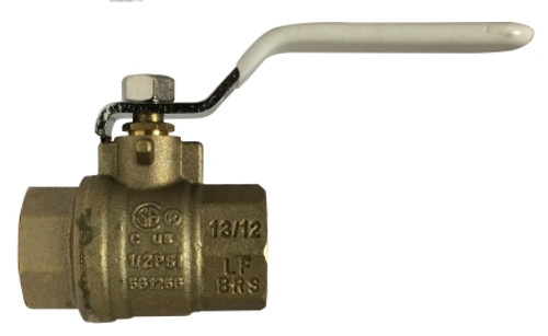 Lead Free Ball Valves AGA UL FM IPS and SWT 1/2 Leadfree FXF Full Port Ball Valve - 940173LF