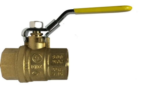 Locking Handle Ball Valve 1-1/4 LOCK HDL BRASS BALL VALVE - 940176L