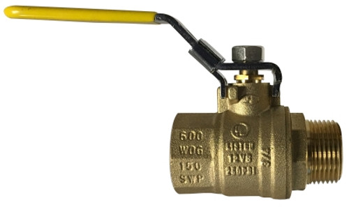 Male x Female Locking Handle ball Valve 1/2 LOCKING HNDL MALE X FEMALE BALLVALVE - 948172L