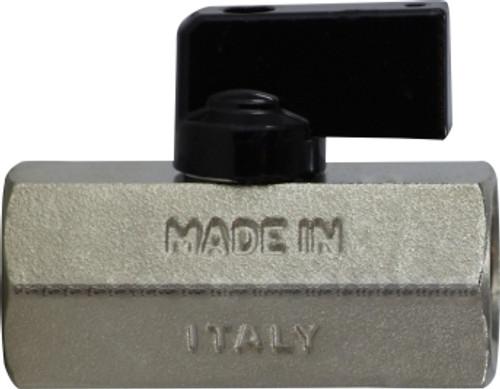 Female x Female Chrome Plated Mini Ball Valve 1/4 F X F CHROME MINI BALL VALVE - 46922I