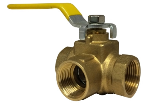 Side Outlet 3 Way Ball Valve 3/4 FIP 3-WAY BALL VLV - 940462