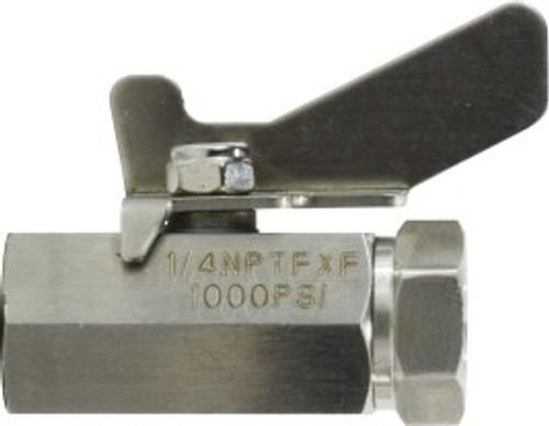 F X F SS 1,000# Mini Ball valve 1/2 FIP S.S. MINI BALL VALVE - 46924SS