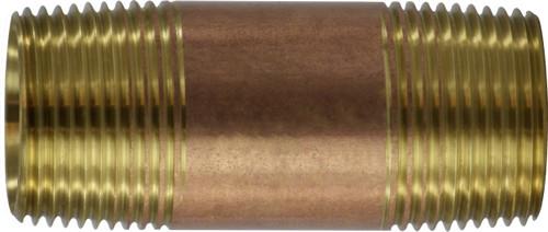 Brass Nipple 1 Diameter 1 X 2-1/2 RED BRASS NIPPLE - 40102