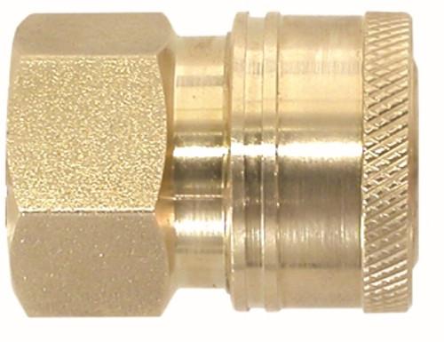 Female Brass Coupler 1/4 FEMALE BRASS ST COUPLER - 86035