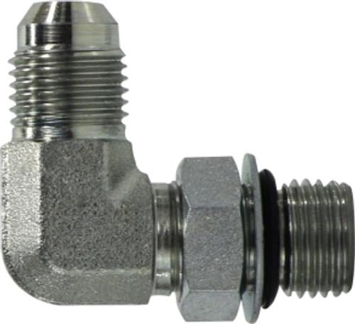 JIC to O-Ring Elbow Connector 7/16-20X9/16-18 MJICXMORB 90 EL CONN - 6801NWO46
