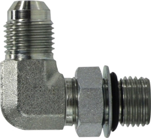 JIC to O-Ring Elbow Connector 9/16-18X7/16-20 MJICXMORB 90 EL CONN - 6801NWO64