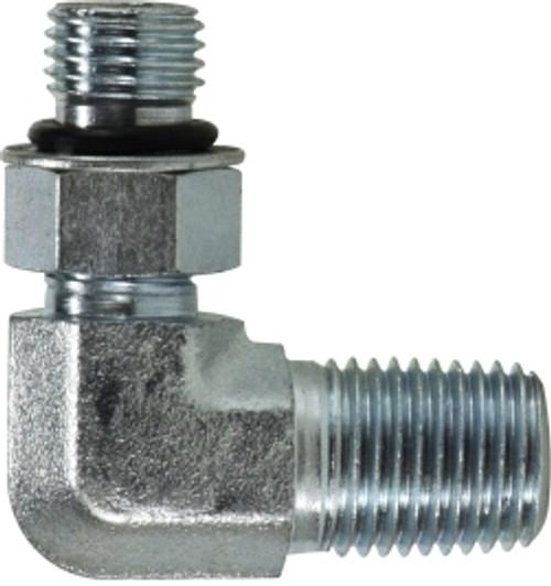 O-Ring to Male Pipe Elbow 7/16-20X1/4 MORBXMNPT 90 ELB CONN - 6806NWO44