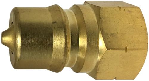 Plug ISO-B Interchange 1/4 ISO-B PLUG BRASS - HNV14MB