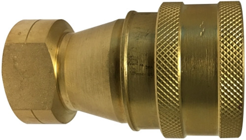 Female Pipe Coupler ISO-B Interchange 3/4 ISO-B QD COUPLER BRASS - HNV34FB