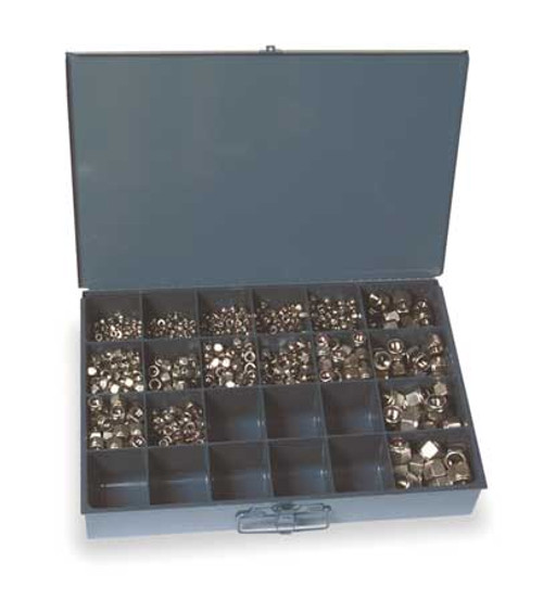 18-8 Stainless Steel Nylon Insert Hex Lock Nut Assortment, 1090 pc.