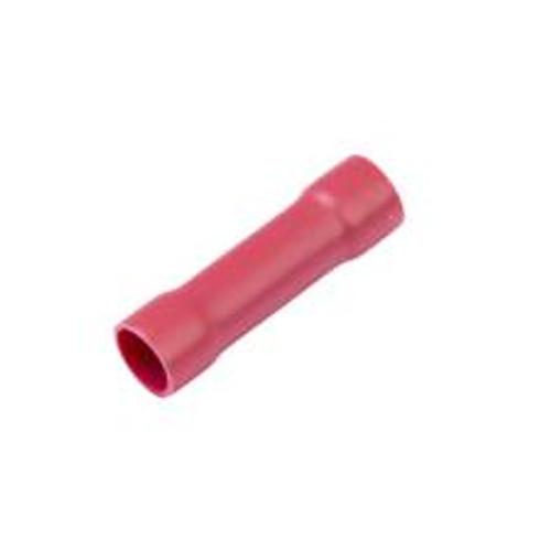 #8 Gauge - Red Vinyl Butt Connector  PK100 - E96193