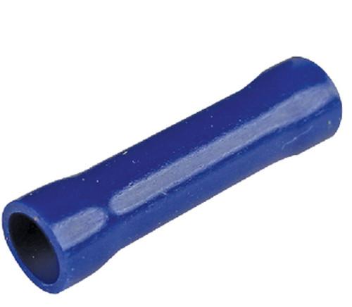 #6 Gauge - Blue Vinyl Butt Connector  PK100 - E96194