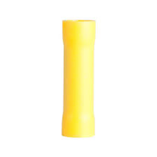 #4 Gauge - Yellow Vinyl Butt Connector  PK25 - E96195