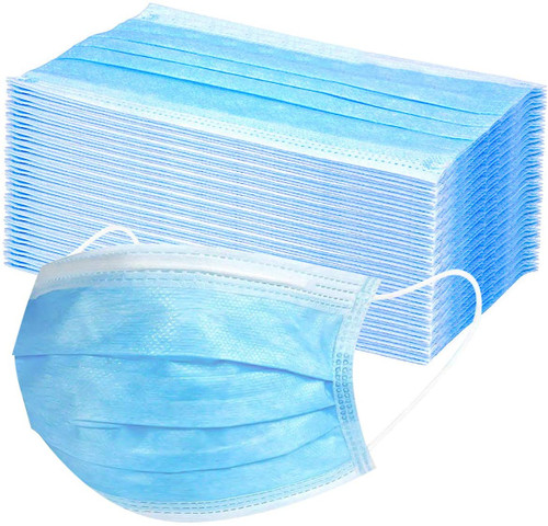 3-Ply Surgical Masks Non Shedding 50 Pack