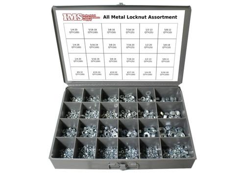 1200 Piece All Metal Locknut Assortment