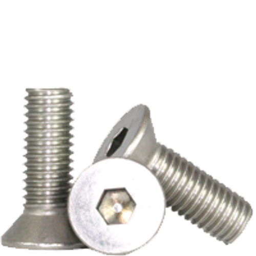 "Stainless Flat Socket Cap Screw   3/8""-16x1 1/2"" (18-8) Full Thread, Qty 100"
