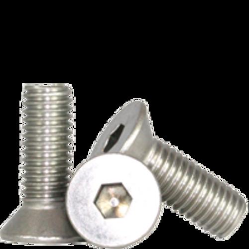 "Stainless Flat Socket Cap Screw | 3/8""-16x1/2"" (18-8) Full Thread, Qty 100"