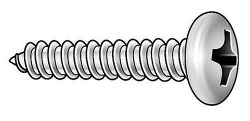 #4 X 1/2 PHILLIPS PAN HEAD SHEET METAL SCREW 18-8 STAINLESS STEEL 100PK