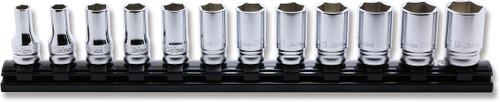 "Koken Z-series RS3300XZ/12   3/8"" Sq. Dr. Semi -deep Socket Set on Magnetic Rail"