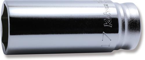 "KOKEN Z-Series 3300MZ-17   3/8"" Square Drive   6-Point Deep Socket"