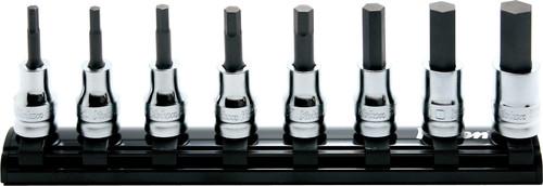 """Koken Z-Series RS3010MZ/8- L50   3/8"""" Square Drive inhex Bit Socket Set (50mm)"""