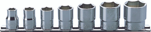 Koken RS3405W/7   3/8 Sq. Drive, 12-point Whitworth Socket Set