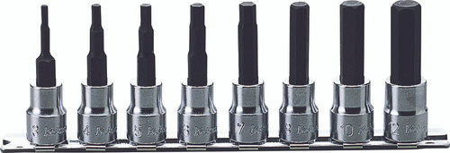 Koken RS3010M/8-L62   3/8 Sq. Drive, Inhex Bit Socket Set