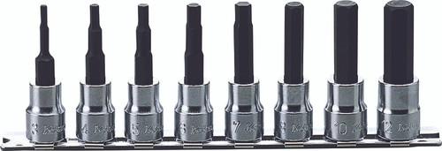 Koken RS3010M/8-L100 | 3/8 Sq. Drive, Inhex Bit Socket Set