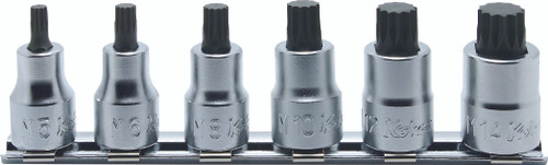 "Koken RS3020/6-L38   3/8"" Sq. Drive, XZN Socket Set"