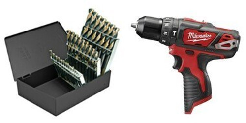 Milwaukee M12 Hammer Drill and Drill Bit Set Combo - Special Combo Pricing - Big Savings