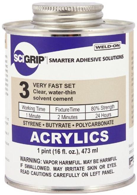 16 Oz. SCIGRIP 3 Acrylic Solvent Cement