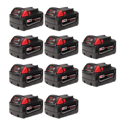 M18™ REDLITHIUM™ XC5.0 Extended Capacity Battery (10 Pk)
