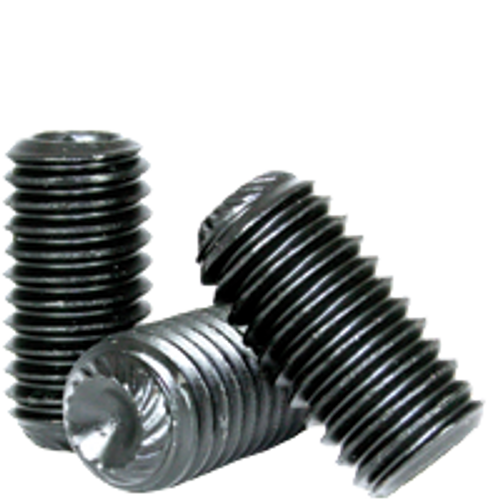 """5/8""""-18x1"""" SOCKET SET SCREWS KNURLED CUP POINT FINE ALLOY THERMAL BLACK OXIDE, Qty 50"""